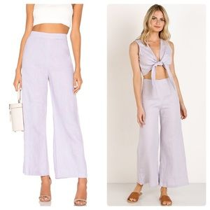 NWT Faithfull The Brand Scelsi Lavender pant